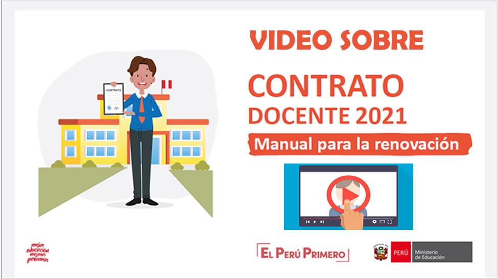 Video Sobre La Renovacion De Contrato Docente 2021 Preguntas Y Respuestas El Profe Virtual